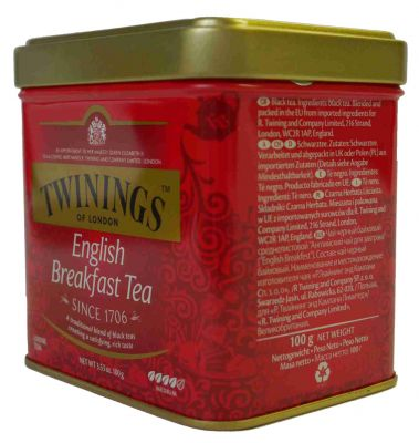 Twinings English Breakfast Tee. 100 g Dose
