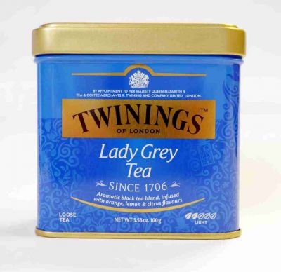 Twinings Lady Grey 100 gramm Dose