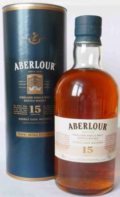Aberlour Double Cask Matured Single Malt Whisky 15 J. 1 L.