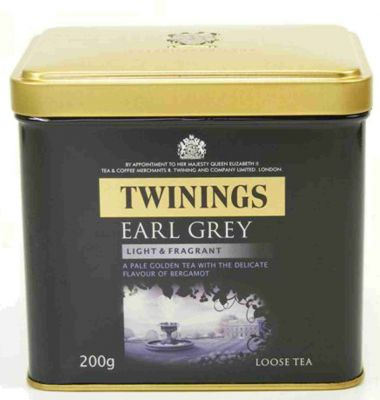 Twinings Earl Grey Light and Fragrant loser Tee 200 g Dose